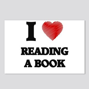 I love Reading A Book Postcards (Package of 8)
