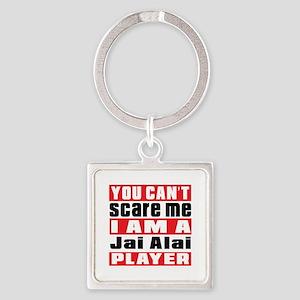 I Am Jai Alai Player Square Keychain