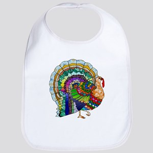 Patchwork Thanksgiving Turkey Bib