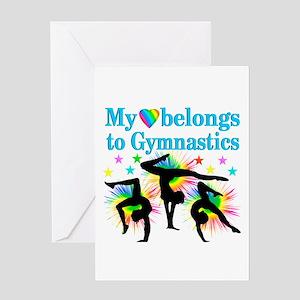 GYMNAST STAR Greeting Card