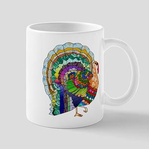 Patchwork Thanksgiving Turkey Mug