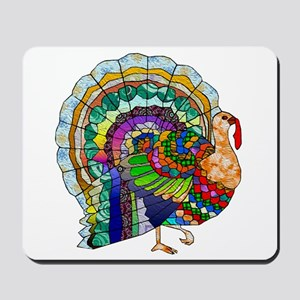 Patchwork Thanksgiving Turkey Mousepad