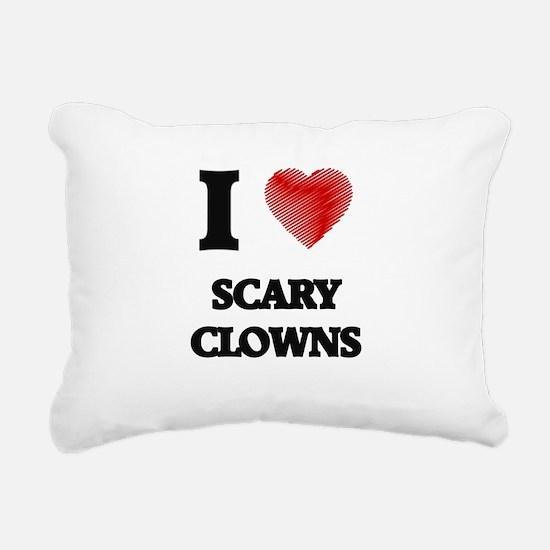 I love Scary Clowns Rectangular Canvas Pillow