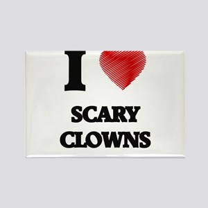 I love Scary Clowns Magnets