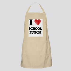 I love School Lunch Apron