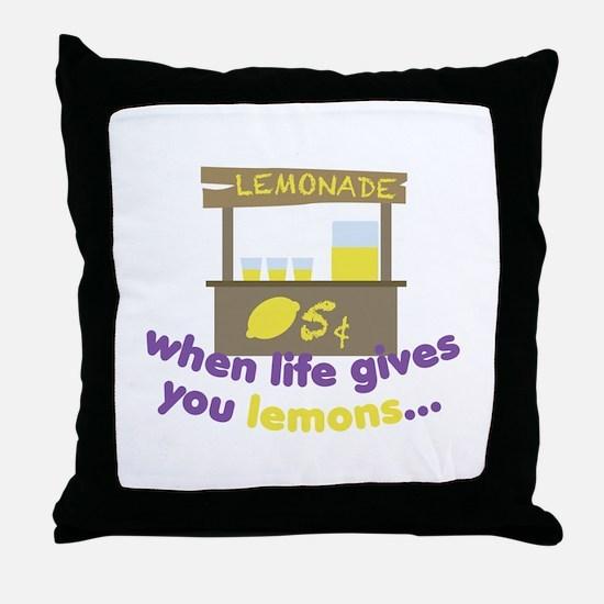 Life Gives Lemons Throw Pillow