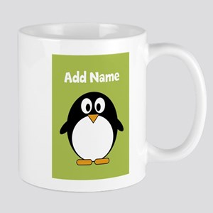Modern Penguin lime green Mugs