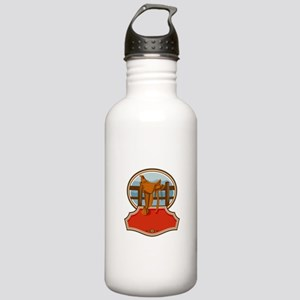 Western Saddle Old Style Oval Retro Water Bottle