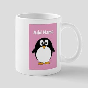 Modern Penguin pink Mugs