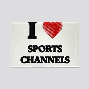 I love Sports Channels Magnets