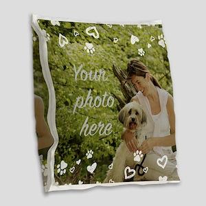 Custom Pet Photo Burlap Throw Pillow