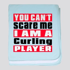 I Am Curling Player baby blanket