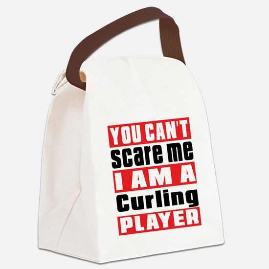 I Am Curling Player Canvas Lunch Bag