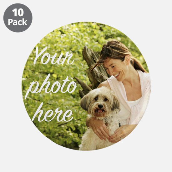 """Your Photo Here 3.5"""" Button (10 pack)"""