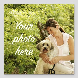 """Your Photo Here Square Car Magnet 3"""" x 3"""""""