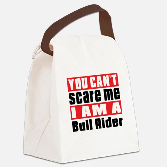 I Am Bull Riding Player Canvas Lunch Bag