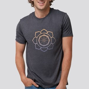 Dharma Wheel with Lotus Flowe T-Shirt