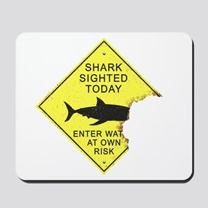 Shark attack panel Mousepad