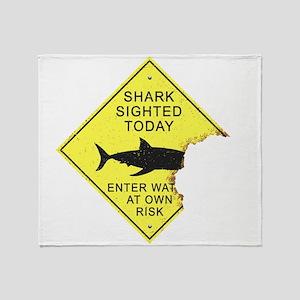 Shark attack panel Throw Blanket