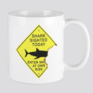 Shark attack panel Mugs