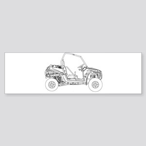 Side X Side Drawing Bumper Sticker