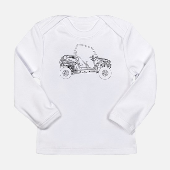 Side X Side Drawing Long Sleeve T-Shirt