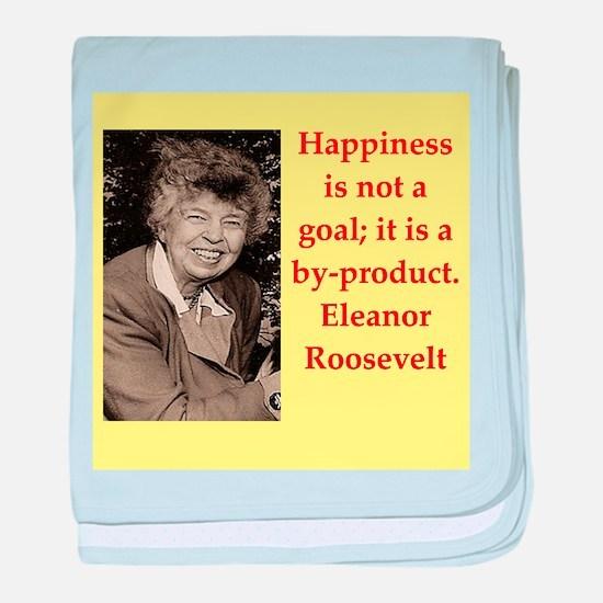 Eleanor Roosevelt quote baby blanket