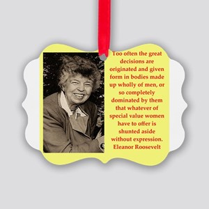 Eleanor Roosevelt quote Ornament