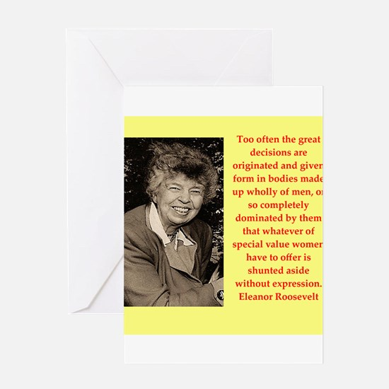 Eleanor Roosevelt quote Greeting Cards