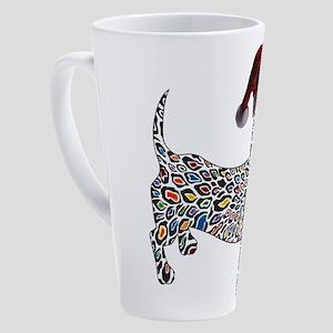 Christmas Cheetah Dachshund 17 oz Latte Mug