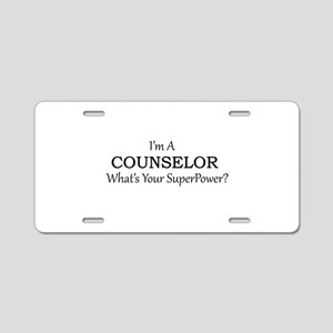 Counselor Aluminum License Plate