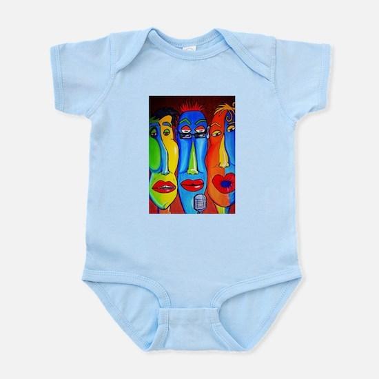 Crazy Talking Heads Infant Bodysuit