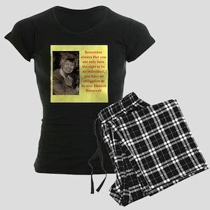 Eleanor Roosevelt quote Pajamas