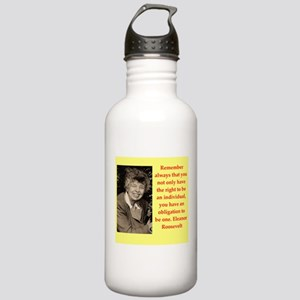 Eleanor Roosevelt quote Water Bottle
