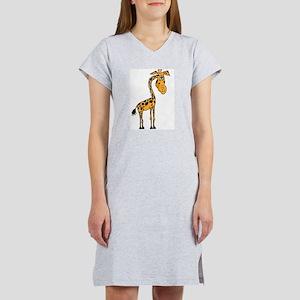 Gorgie Giraffe white bk Women's Nightshirt