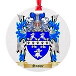 Snowe Round Ornament