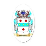 Snowdone Oval Car Magnet