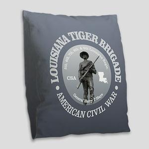 The Tiger Brigade Burlap Throw Pillow