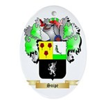 Snipe Oval Ornament