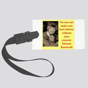 Eleanor Roosevelt quote Luggage Tag