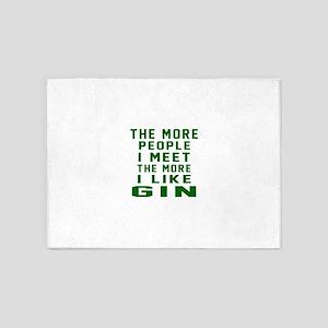 I Like Gin 5'x7'Area Rug