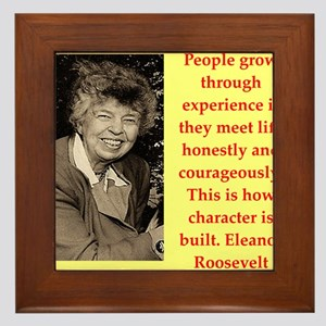 eleanor roosevelt quote Framed Tile