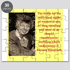 Eleanor Roosevelt quote Puzzle