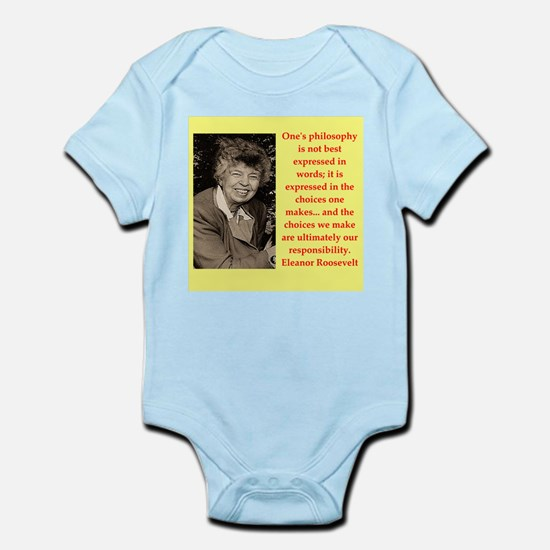 Eleanor Roosevelt quote Body Suit