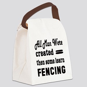 Some Learn Fencing Canvas Lunch Bag