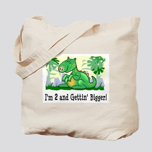 Dinosaur I'm 2 Tote Bag