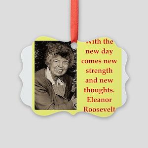 Eleanor Roosevelt quote Ornament