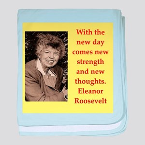 Eleanor Roosevelt quote baby blanket