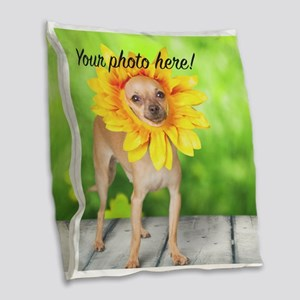 Your Pet Photo Burlap Throw Pillow