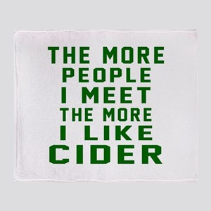 I Like Cider Throw Blanket